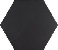 Basic Black Hexagon Hexagon Porcelain Tile