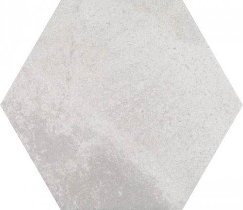 Concrete White Hexagon Porcelain Tile
