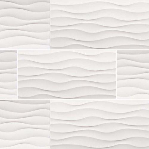 12x24 White Wavy