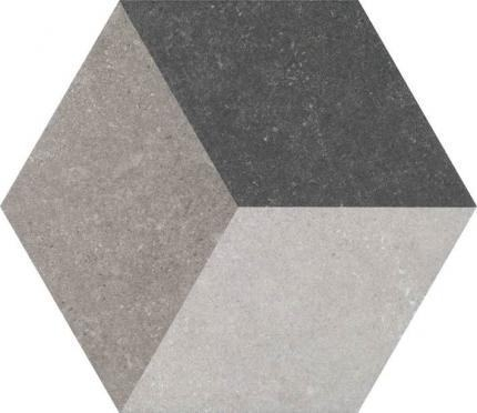 3D Hexagon Traffic Hexagon Porcelain Tile
