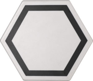 Exatarget Bianco Hexagon Porcelain Tile