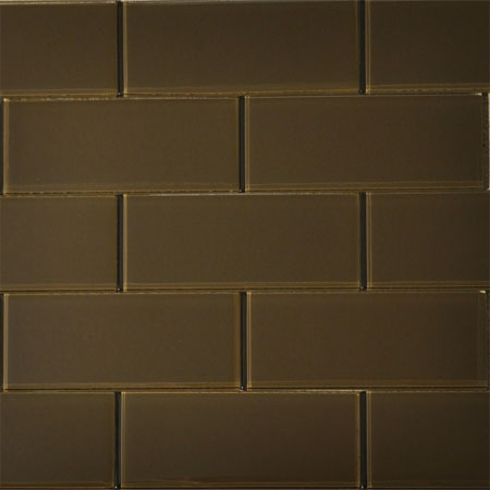 Truffle 3x8 Glass Tile
