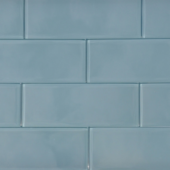 Blue Mist 3x8 Glass Tile