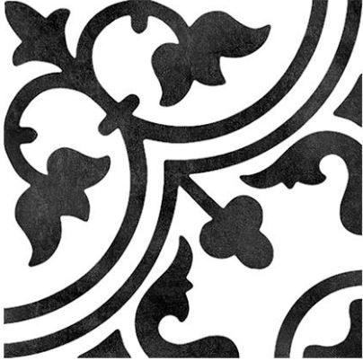 """6x6"""" Porcelain Deco Tile - Clover"""