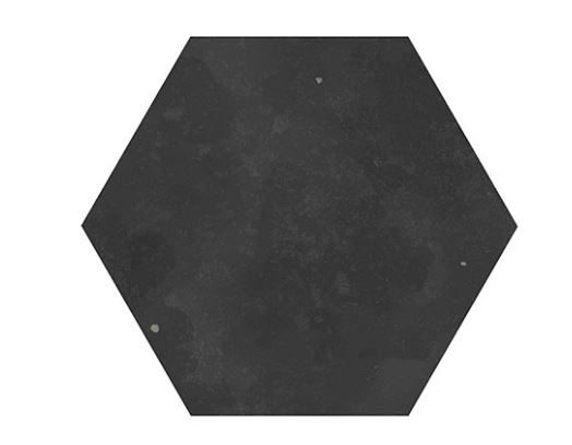 "5"" Hexagon Porcelain Tile - Black"