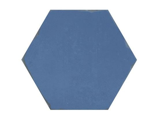 "5"" Hexagon Porcelain Tile - Blue"