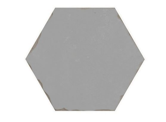 "5"" Hexagon Porcelain Tile - Grey"