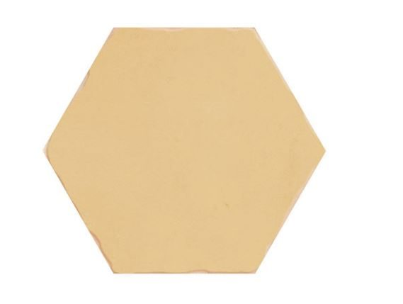 "5"" Hexagon Porcelain Tile - Ocre"