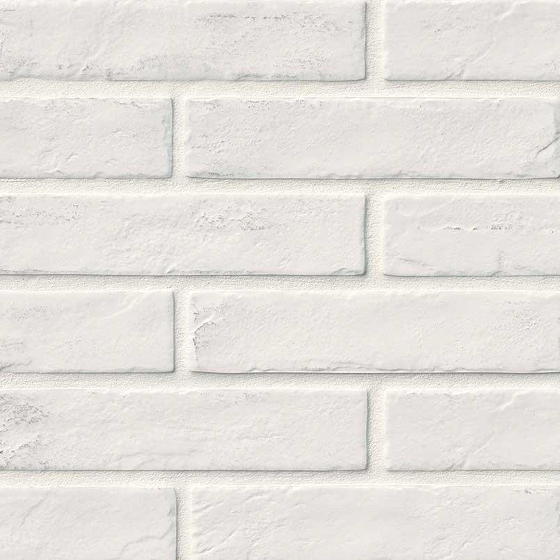 """2x10"""" White Brick Porcelain Tile"""