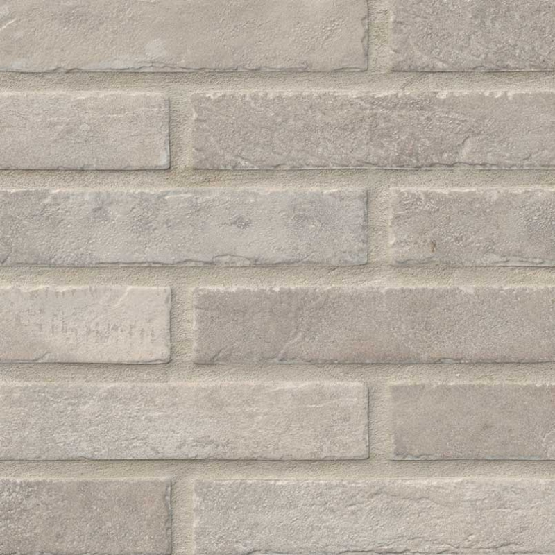 "2x10"" Ivory Brick Porcelain Tile"