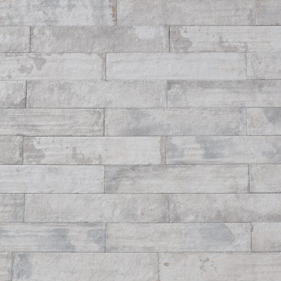 "3x16"" White Washed Brick Porcelain Tile"