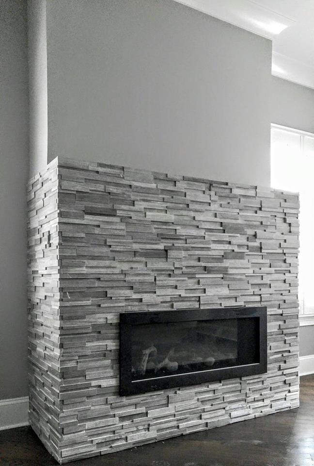 Fireplace Amp Feature Wall Ideas Queen City Stone Amp Tile