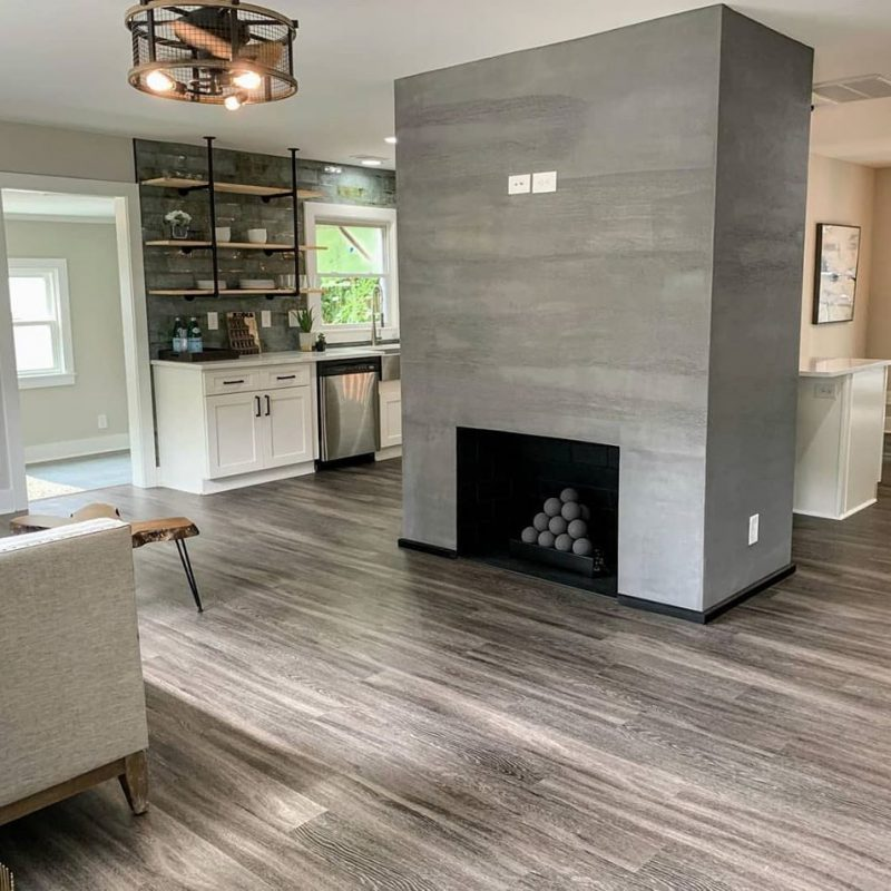 Fireplace-Enhanced-By-Our-Large-Format-Porcelain-Tile
