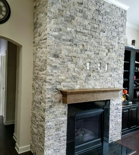 Silver Travertine Stacked Stone