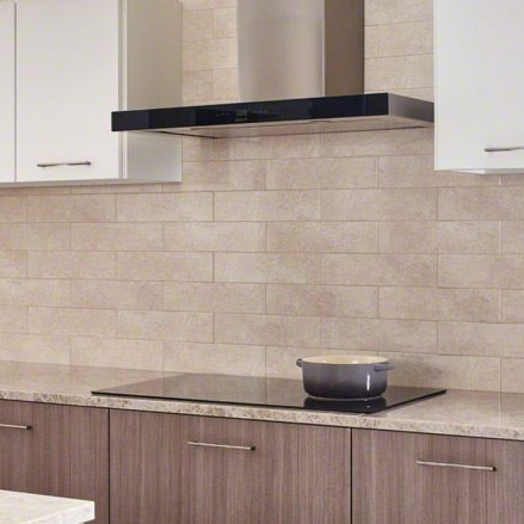 Beige Crema Porcelain Back-Splash