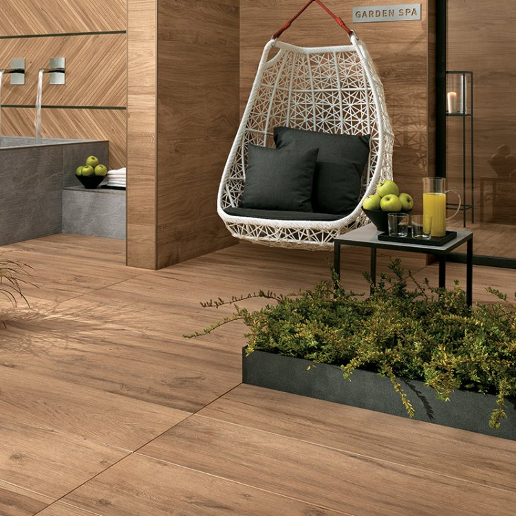 Walnut Wood Look Porcelain