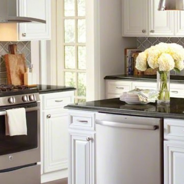 Dove Gray Baroque Back-Splash