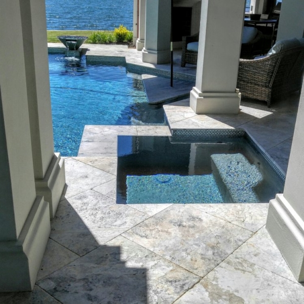 Tundra Grey Marble Pavers in 24x24""