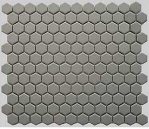 1 Buckhead Grey Matte Hexagone