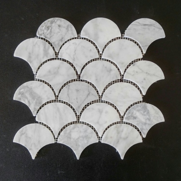 Carrara Marble Fish Scale
