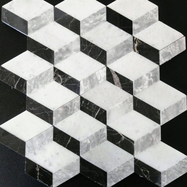 Mixed Marble Cube, Polished Finish