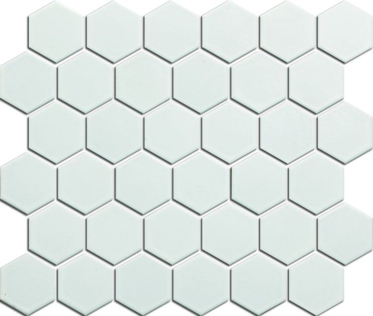 2x2 White Hexagon Matte
