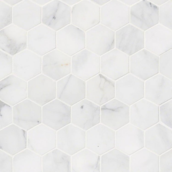Calacatta Cressa 2inch Hexagon Honed