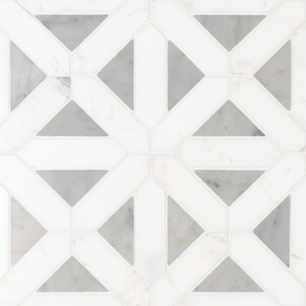 Bianco-Dolomite-Geometrica-Polished