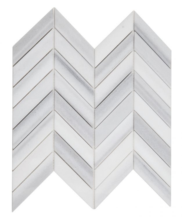 Chevron Marmala White
