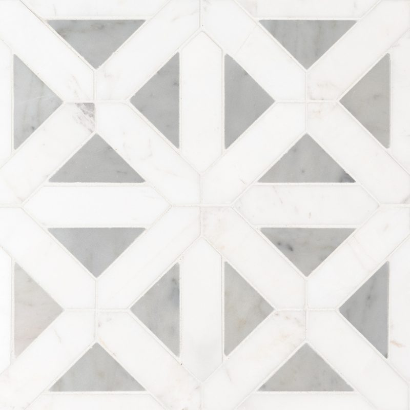 Geometric Blanco Dolomite Polished