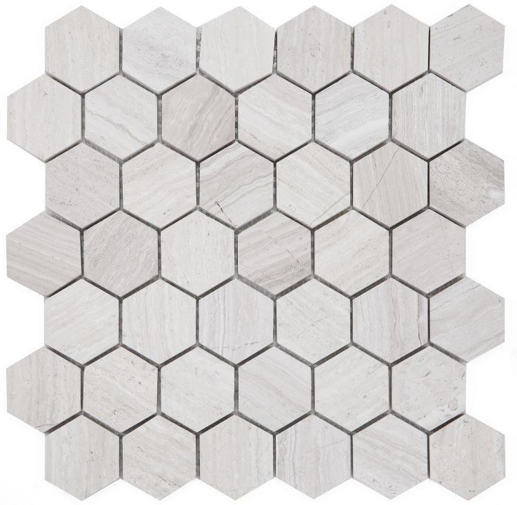 Hexagon Grey 2 x 2