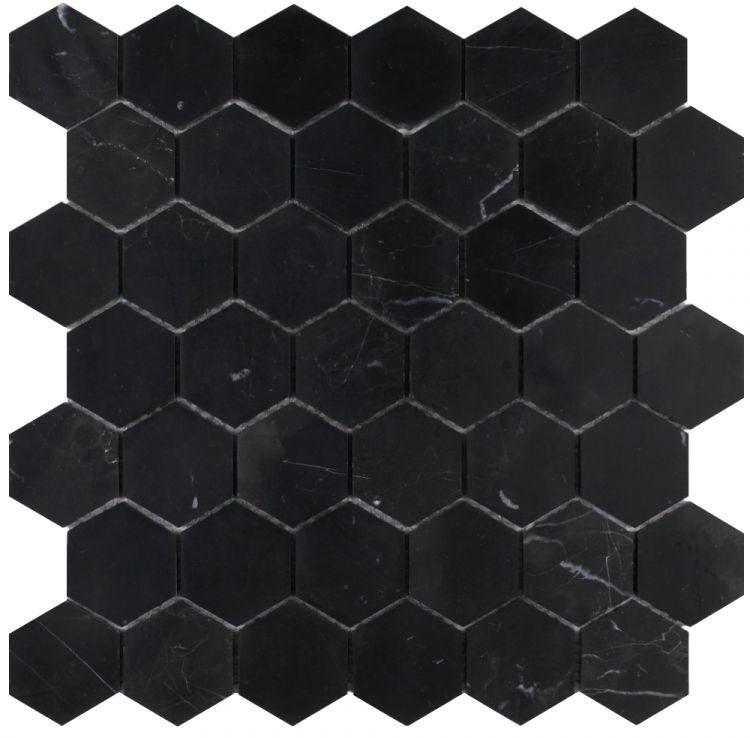 Hexagon Marquina 2 x 2 Honed