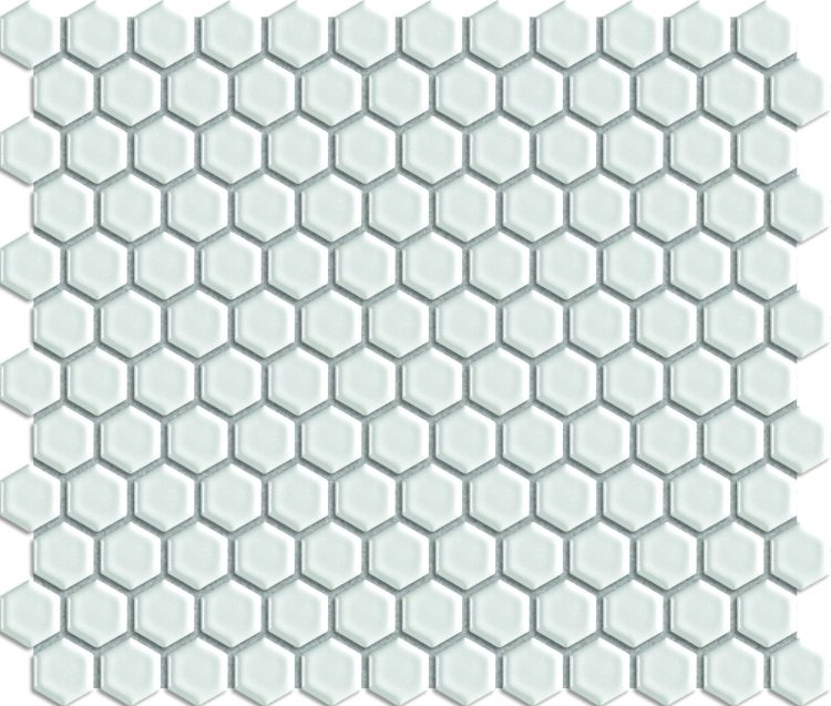 White Hexagon Matte