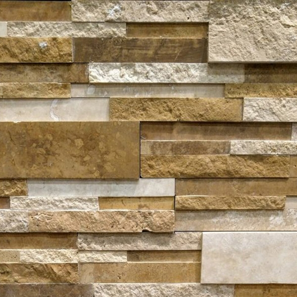 Mixed-Travertine-Stacked-Stone-Splitface-and-Honed-Finish