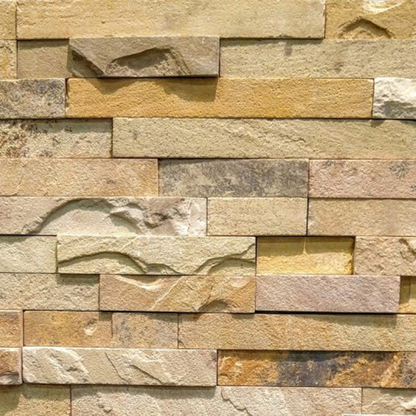 Mixed-Beige-Sandstone-Stacked-Stone-Splitface-Finish