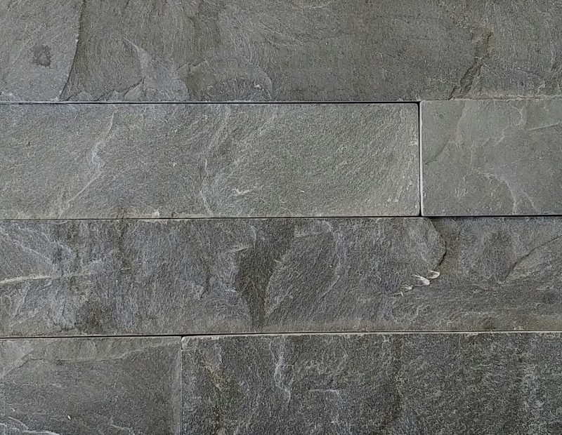 Black Slate Splitface Stacked Stone