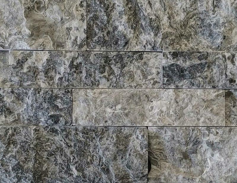 Grey Glacier Splitface Stacked Stone
