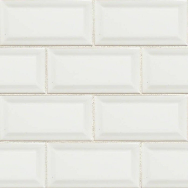 3x6 White Beveled Subway Tile