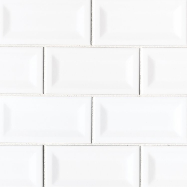3x6 White Inverted Subway Tile