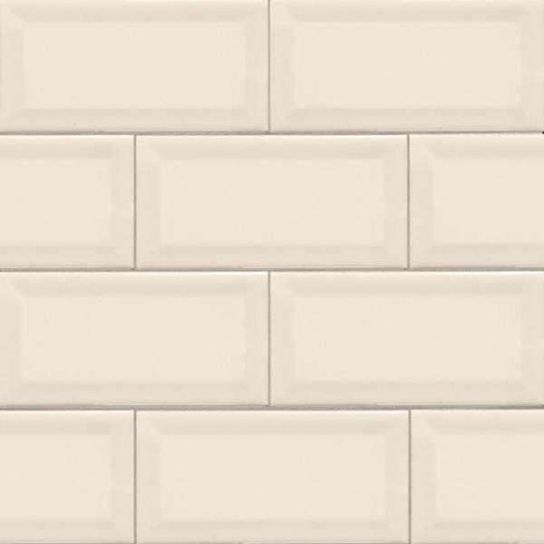 3x6 Off White Beveled Subway Tile