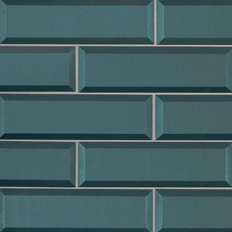 2.5x8 Azul Beveled
