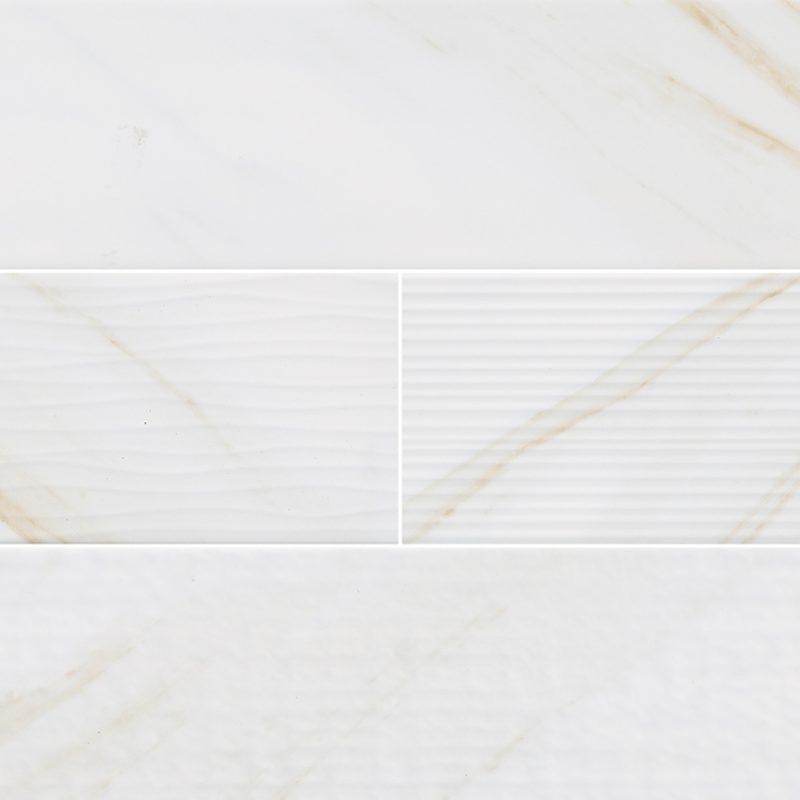 4x16 Classic White Calacatta Mix