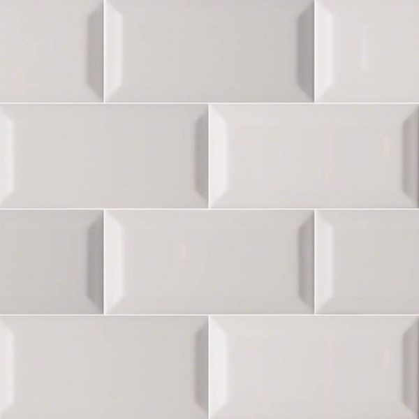 3x6 Beveled Grey Subway Tile