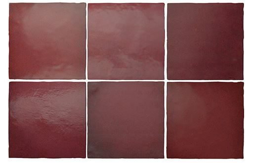 "5x5"" Subway Tile - Burgundy"