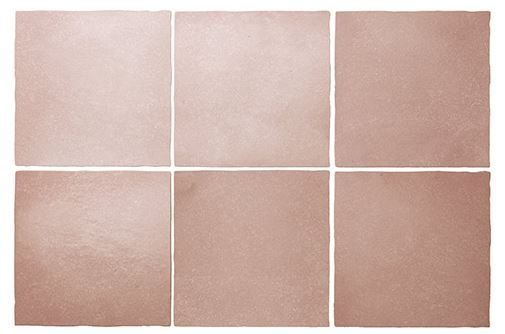 "5x5"" Subway Tile - Coral Pink"