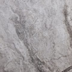 4 Silver Travertine Filled and Honed