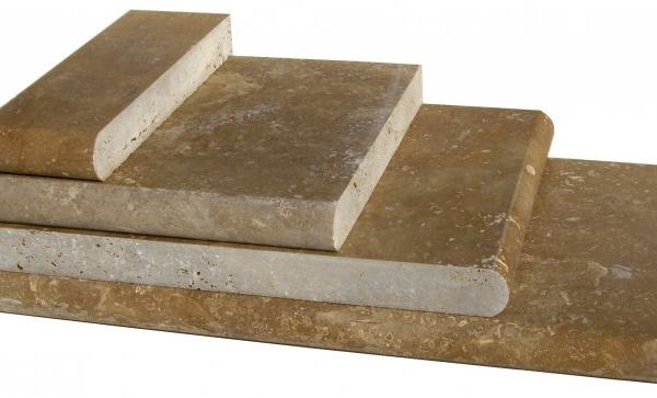 Noce Travertine Pool Copings