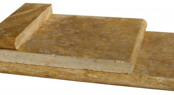 Gold Travertine Pool Copings