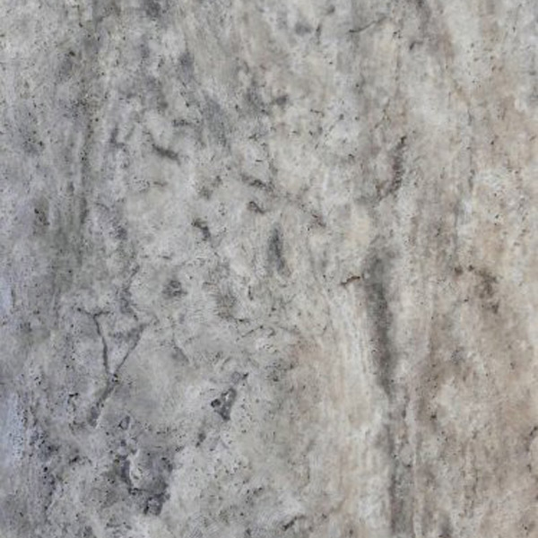 Silver Travertine Vein Cut Brushed Finish