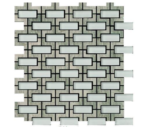 Louvre Grey Waterjet Cut Mosaic